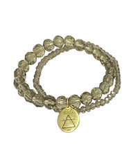 Air Elements Bracelet Set with Smoky Quartz in Gold Vermeil