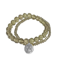 Air Elements Bracelet Set with Smoky Quartz in Sterling Silver