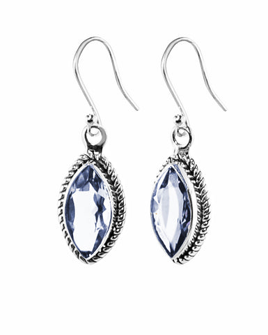 Ananda Sterling Silver Earrings - Crystal Quartz