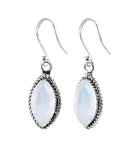 Ananda Sterling Silver Earrings - Moonstone