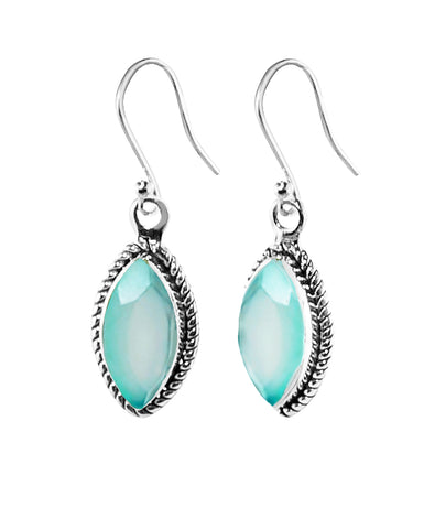 Ananda Sterling Silver Earrings - Peruvian Opal
