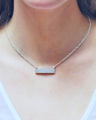Sparkle Druzy Bar Choker | Necklace in Sterling Silver - Sivalya