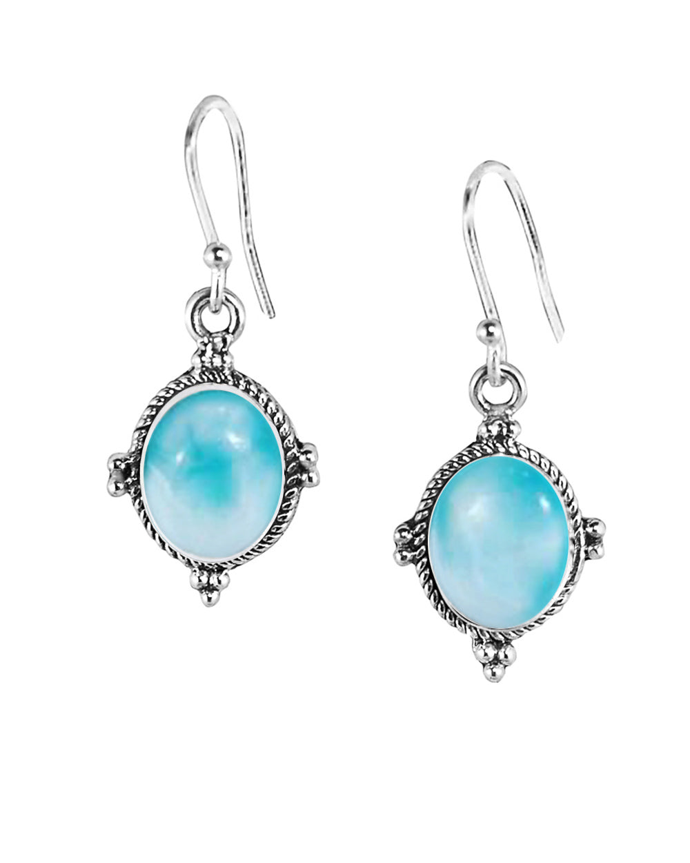 Bhakti Larimar Earrings in Sterling Silver