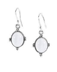 Bhakti Moonstone Earrings in Sterling Silver