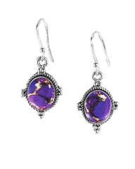 Bhakti Purple Copper Turquoise Earrings in Sterling Silver