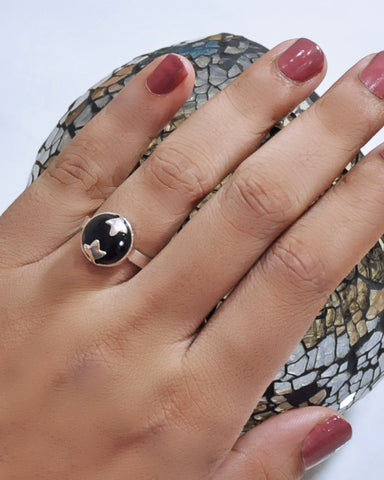 Black Onyx Spellbinder Ring in 925 Sterling Silver