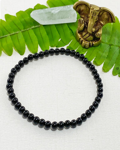 Black Tourmaline Mini Gemstone Energy Bracelet