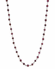 Blessed Friendship Garnet Sterling Silver Necklace