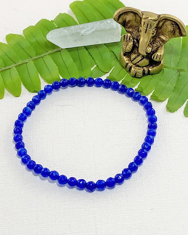 Blue Agate Mini Gemstone Energy Bracelet