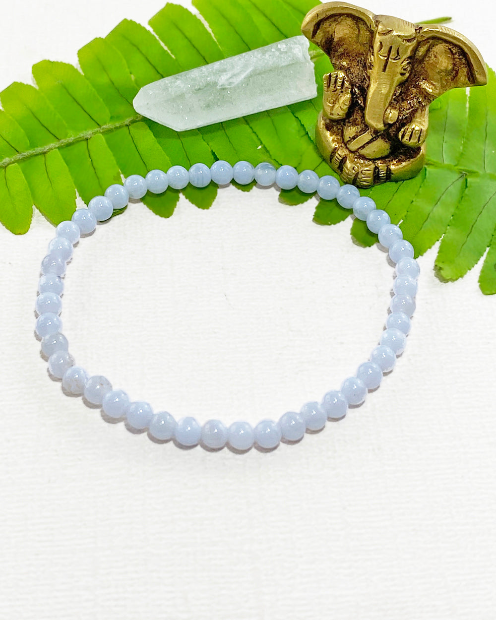 Blue Lace Agate Mini Gemstone Energy Bracelet
