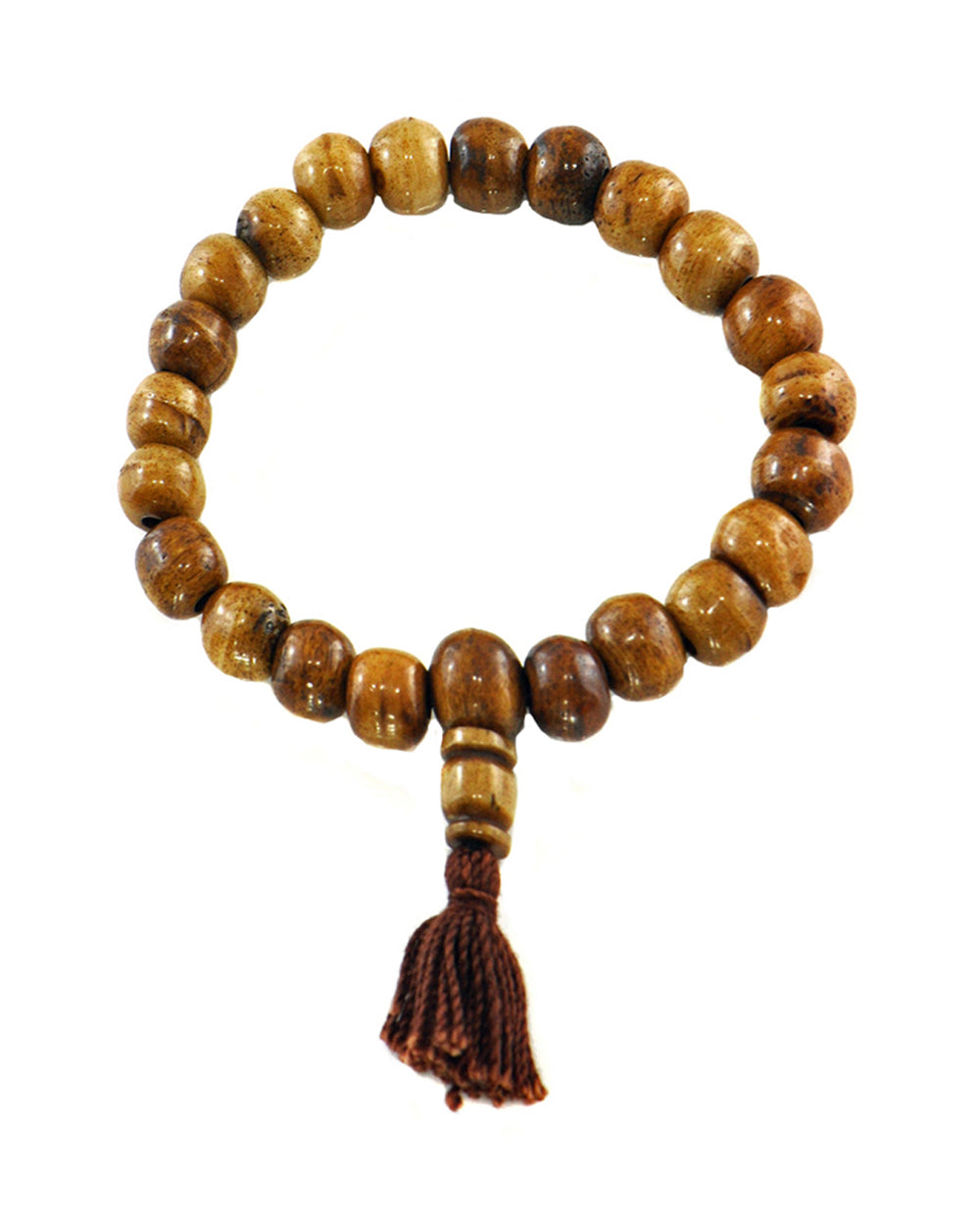 Yak Bone Tibetan Buddhist Wrist Mala Brown