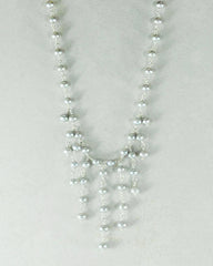 Cascades Gray Pearls Layered Necklace