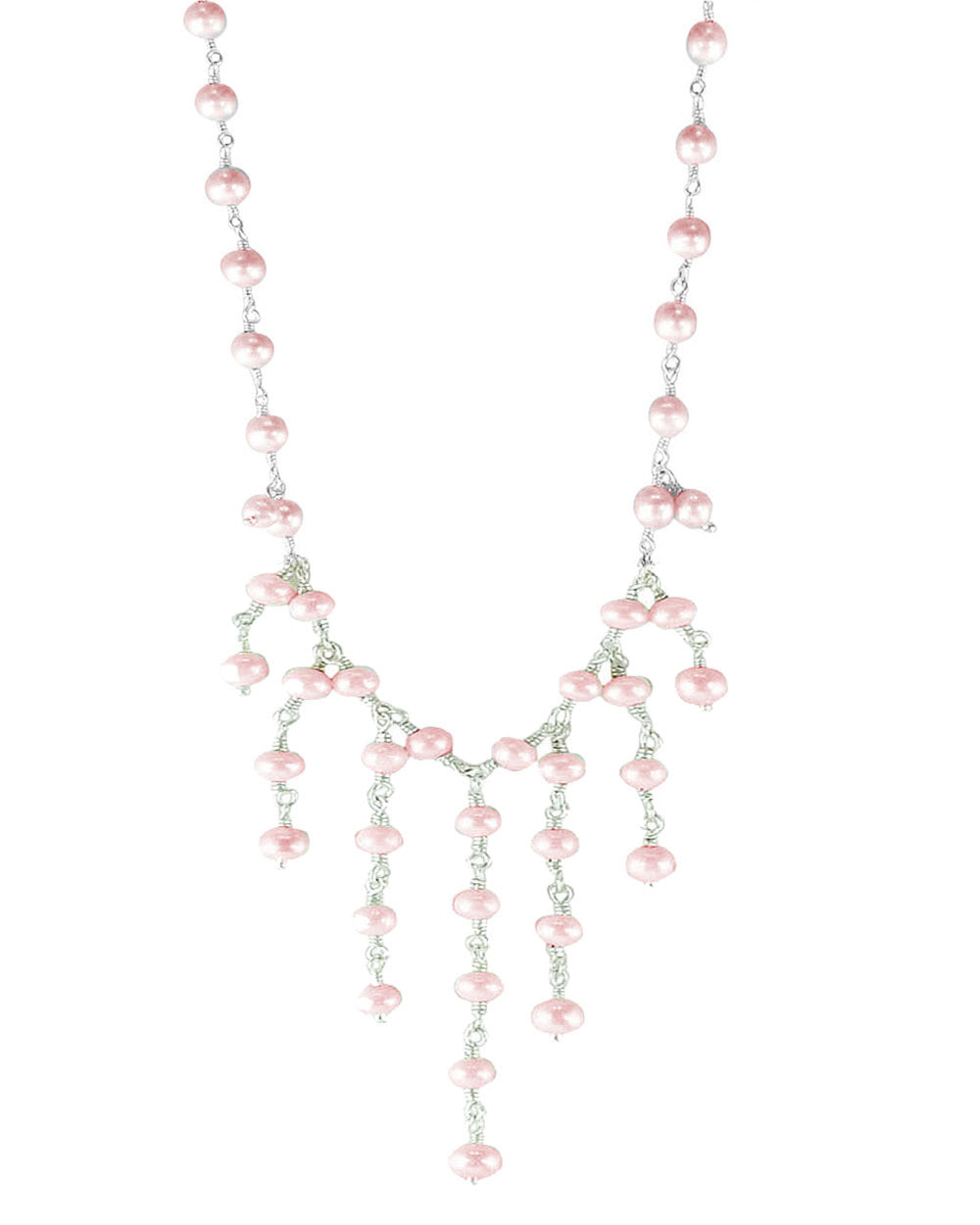 Cascades Peach Pearls Layered Necklace