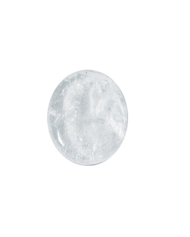 Clear Quartz Palm Stone - Oval