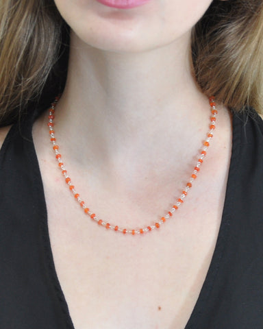 Creativity Carnelian Sterling Silver Necklace