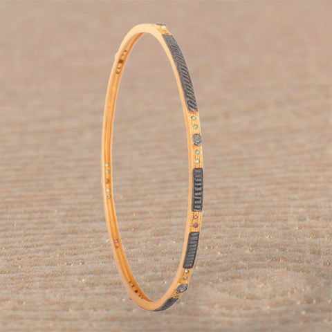 Diamond Bangle Bracelet in Gold Vermeil