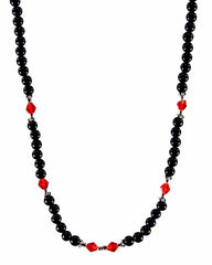 Divine Energy Red Crystals and Black Onyx Necklace