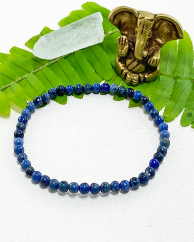 Dumortierite Mini Gemstone Energy Bracelet
