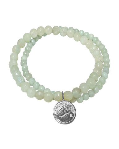 Earth Elements Bracelet Set with Amazonite in Sterling Silver