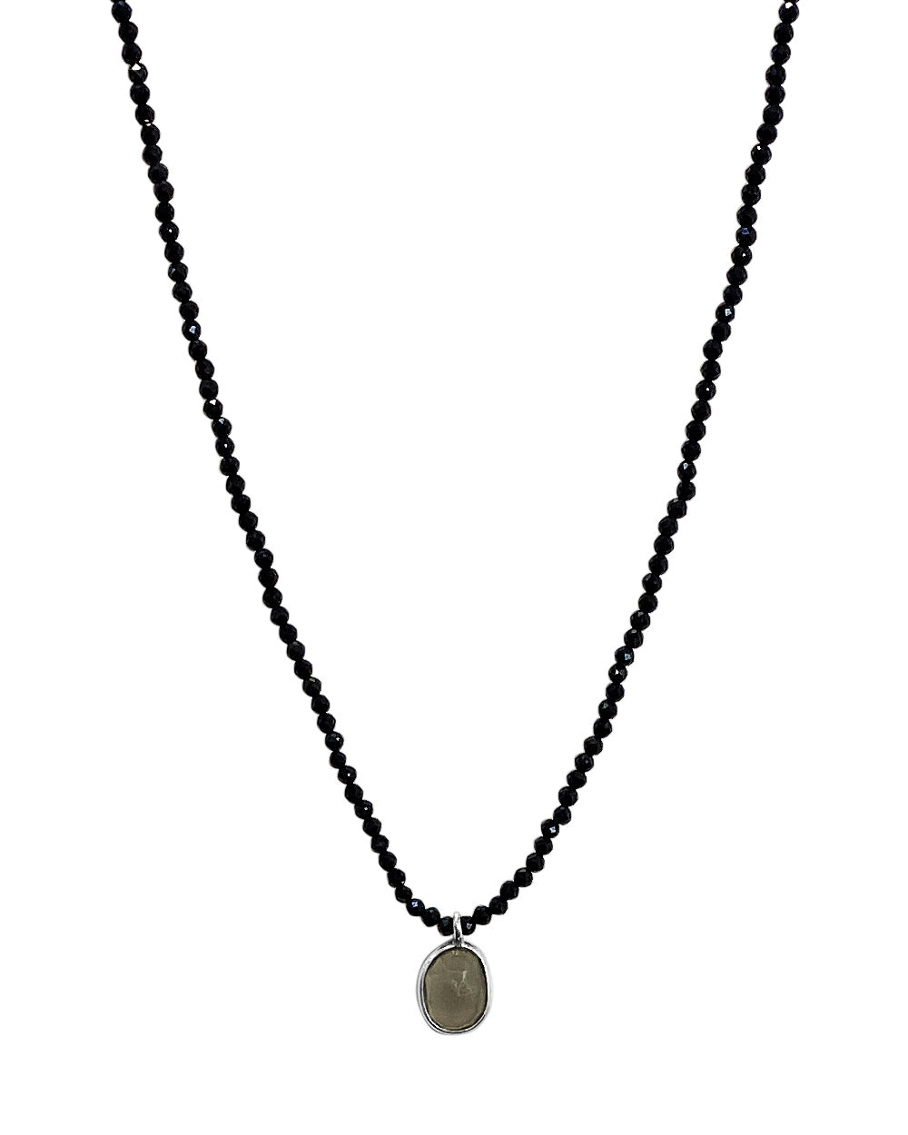 Empowered Black Spinel Necklace - Confidence