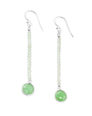 Empowered Dangle Drop Earrings -  Green Aventurine