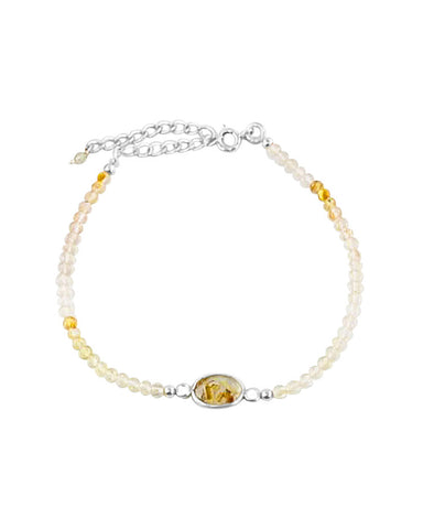 Empowered Gold Rutilated Bracelet - Balance