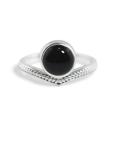 Enlightened Sterling Silver Ring - Black Onyx