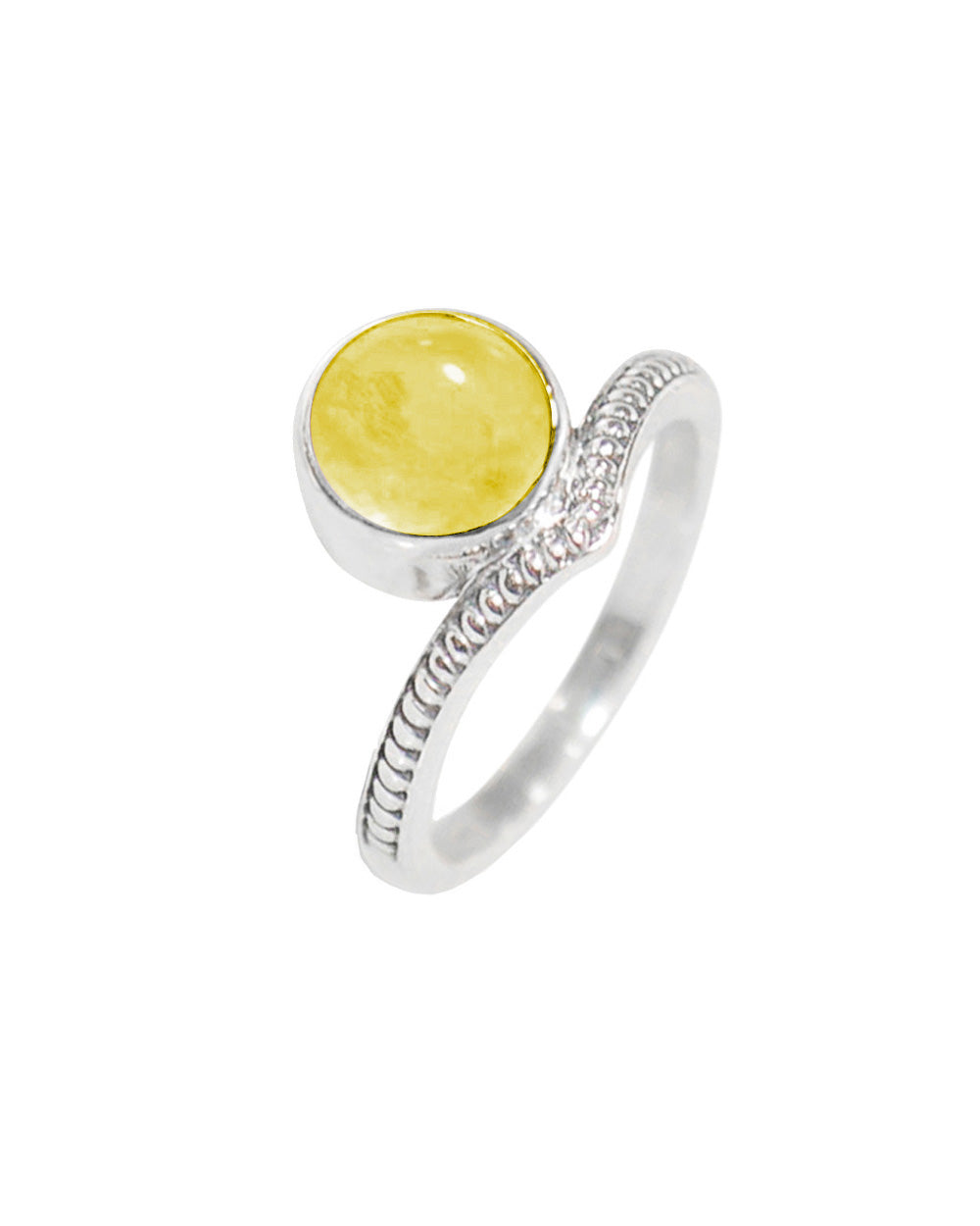 Enlightened Sterling Silver Ring - Citrine