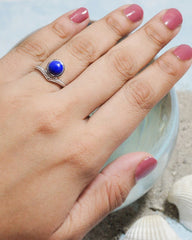 Enlightened Sterling Silver Ring - Lapis Lazuli