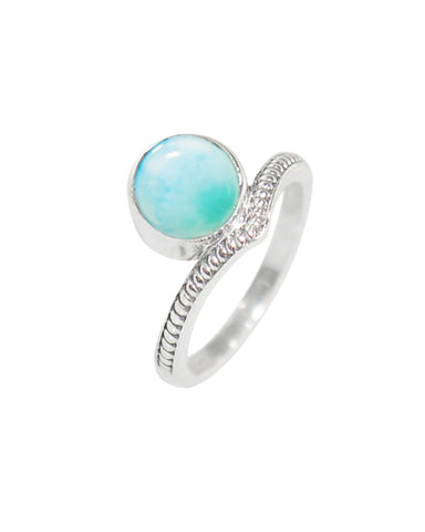Enlightened Sterling Silver Ring - Larimar