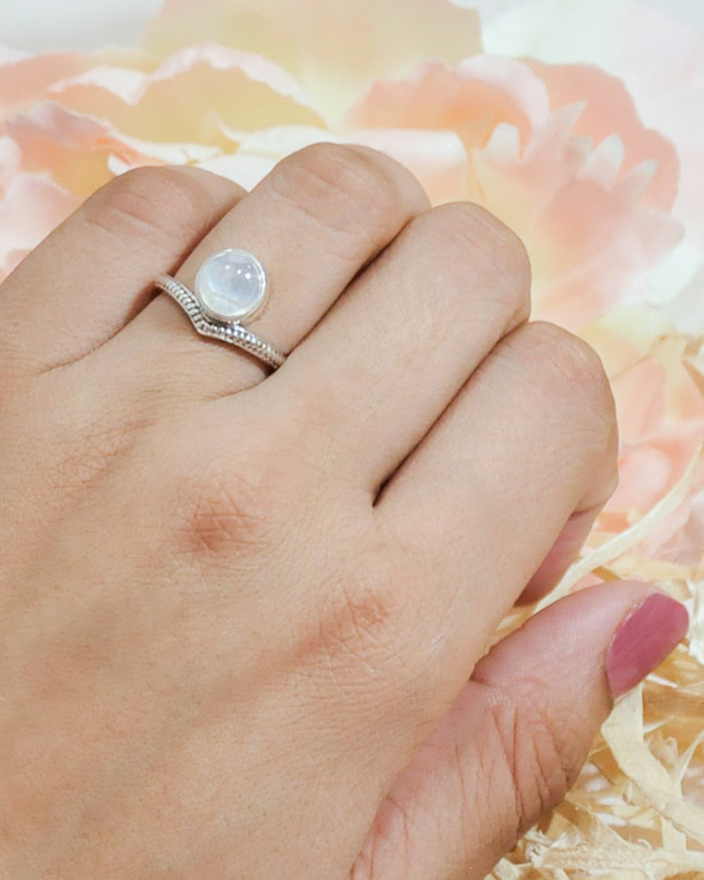 Enlightened Sterling Silver Ring - Moonstone
