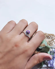 Enlightened Sterling Silver Ring - Purple Turquoise