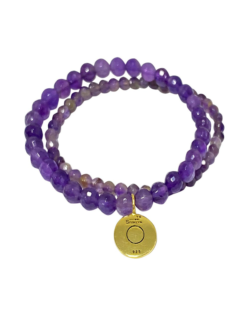 Ether Elements Bracelet Set with Amethyst in Gold Vermeil