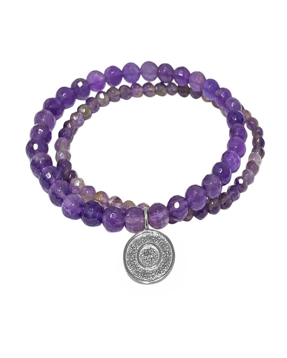 Ether Elements Bracelet Set with Amethyst in Sterling Silver