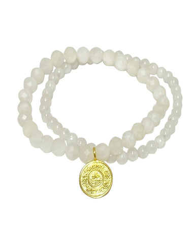Ether Elements Bracelet Set with Moonstone in Gold Vermeil