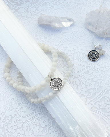 Ether Elements Bracelet Set with Moonstone in Sterling Silver