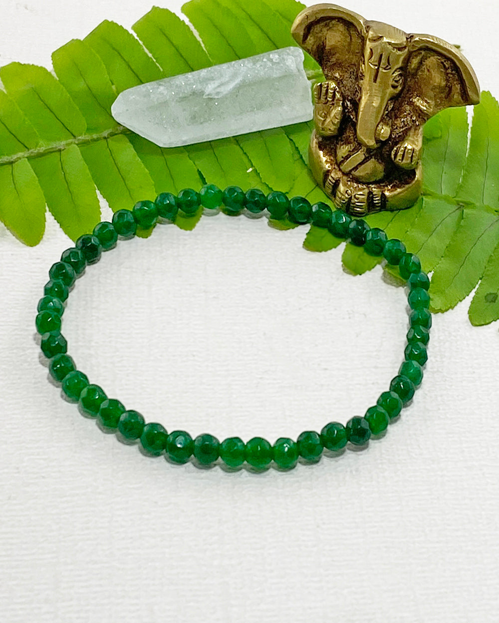 Green Onyx Mini Gemstone Energy Bracelet