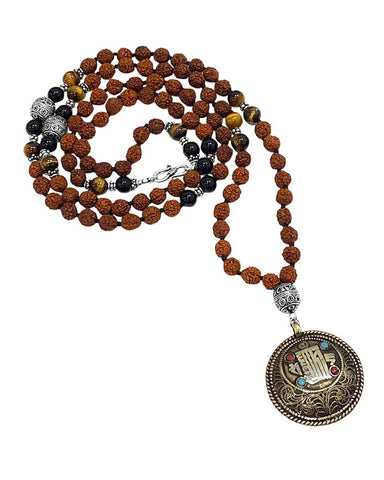 Highest Path 108 Rudraksha Beads Buddhist Prayer Mala