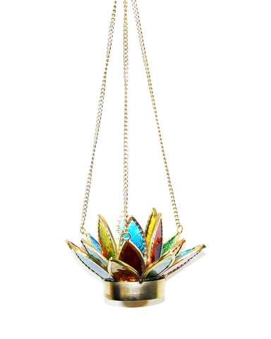 Illuminating Hanging Lotus Candle Votive