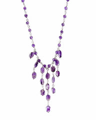 Intuitive Amethyst Gemstones Layered Necklace