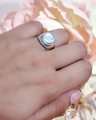 Luna Sterling Silver Ring - Moonstone