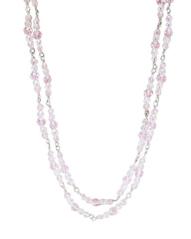Manifest Love Pink Crystals Layered Necklace