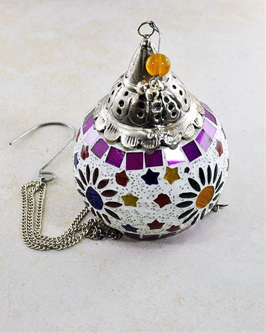 Marrakesh Colorful Glass Mosaic Hanging Candle Votive