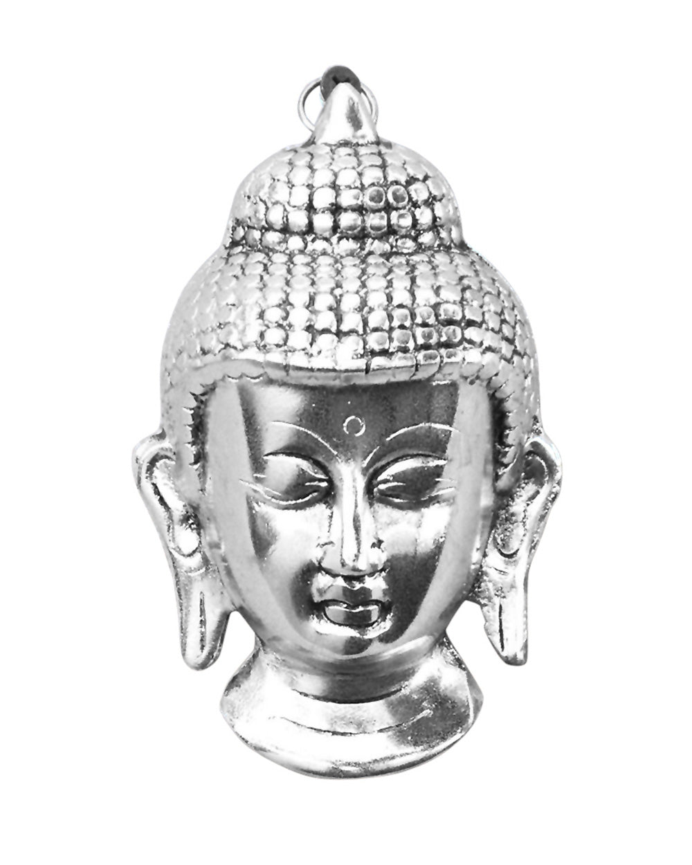 Meditating Buddha Head Silver Wall Art