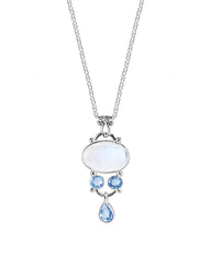 Mindfulness Moonstone 925 Sterling Silver Pendant Necklace