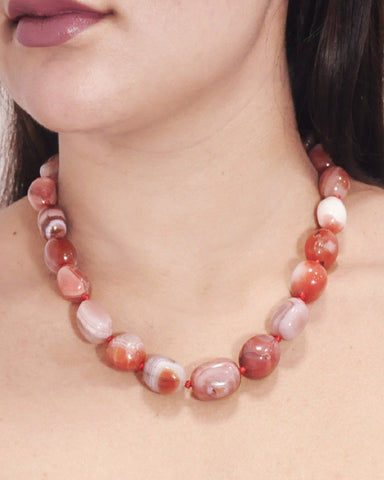 Fire Elements Carnelian Stones Necklace
