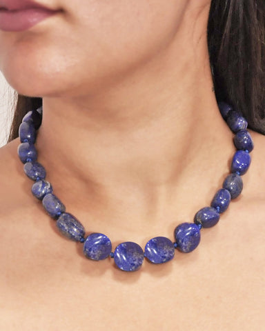 Water Element Lapis Lazuli Stones Necklace