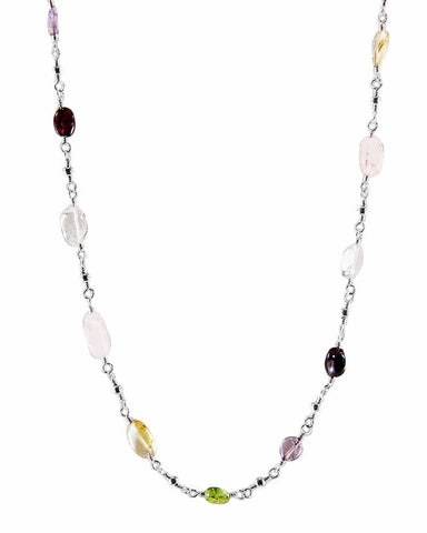 New Beginnings Sterling Silver Multi-Gem Necklace