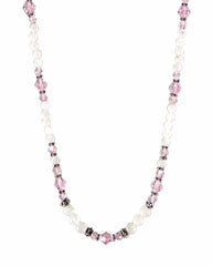 New Love Pink Crystals and Moonstone Necklace