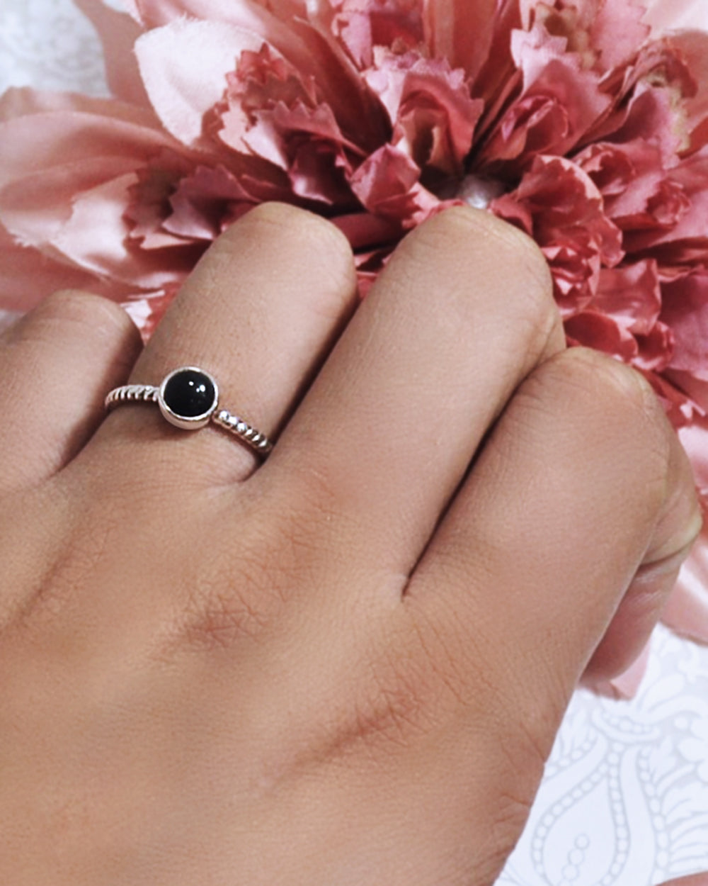 Nova 925 Sterling Silver Ring Black Onyx